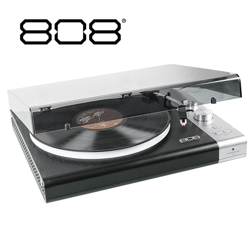 808 Wireless Streaming Turntable with Multi-Color LED Lights