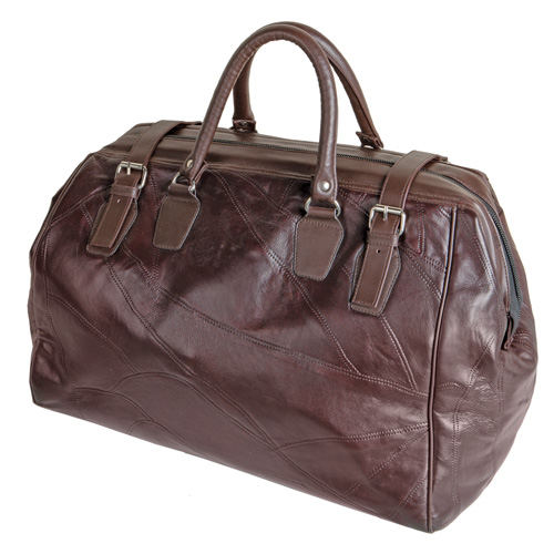 Lambskin Weekend Bag - Brown