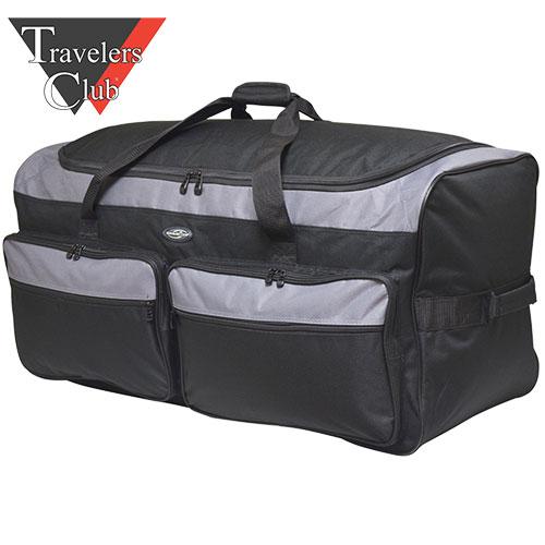 Adventure Black & Gray Duffel Bag