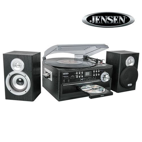 Jensen JTA-475 3-Speed Turntable with CD Player