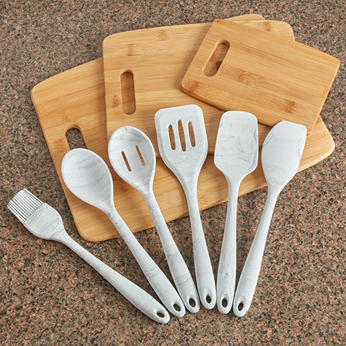 Gourmet Edge 9 Piece Utensil/Cutting Board Set