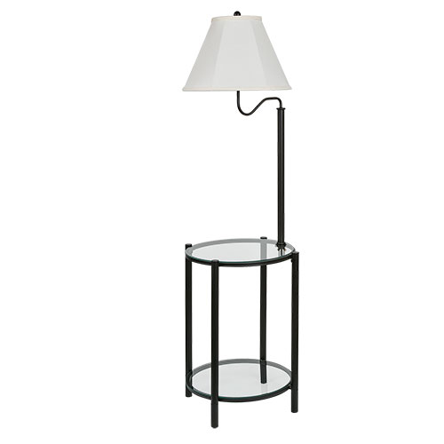 Mainstays Contemporary Glass End Table and Lamp