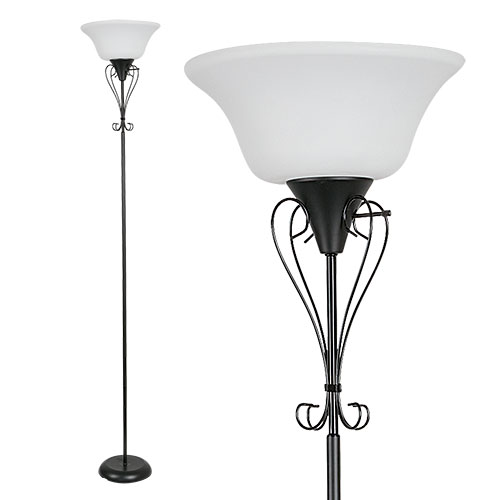 Mainstays 71 inch Torchiere Floor Lamp - 2 Pack