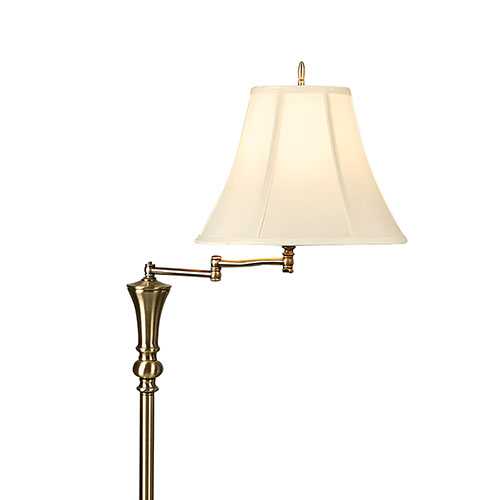 Antique Swing-Arm Floor Lamp
