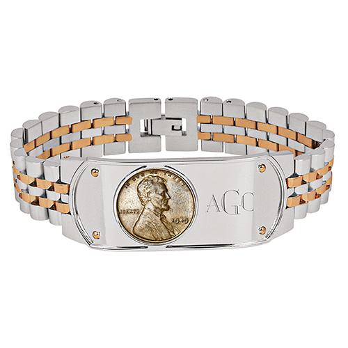 American Coin Treasures Monogram Bracelet