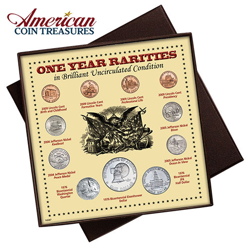 American Coin Treasures 1 Year Rarity Coin Set