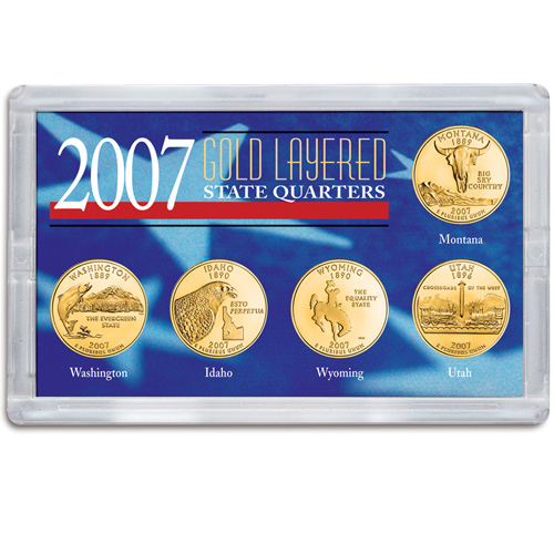2007 Gold-Layered State Quarters