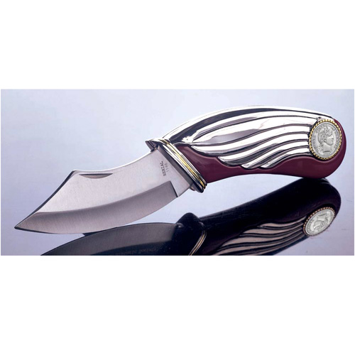 Silver Barber Dime Collectors Knife