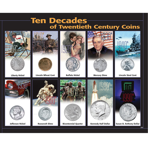10 Decades 20th Century Coins
