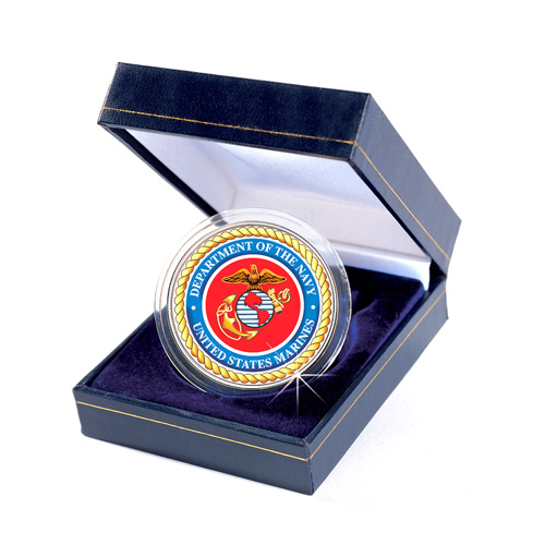 Armed Forces Commemorative Colorized JFK Half Dollar - Marines