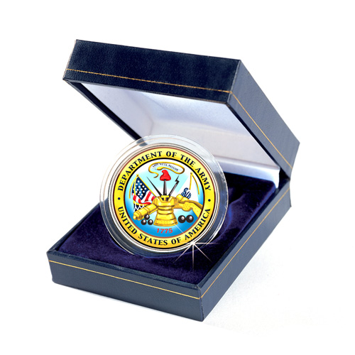 Armed Forces Commemorative Colorized JFK Half Dollar - Army