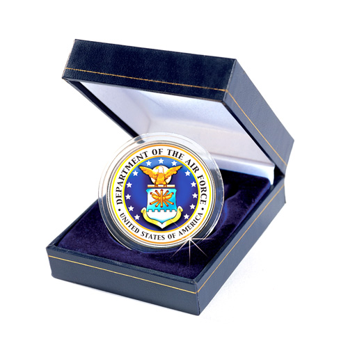 Armed Forces Commemorative Colorized JFK Half Dollar - Air Force