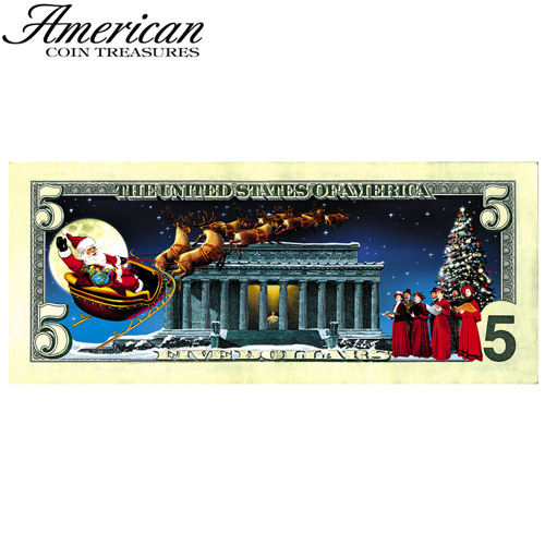Jingle Bucks Color 5 Dollar Bill