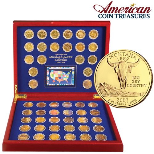 Complete Gold State Quarters