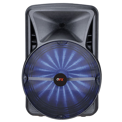 QFX PBX-BF25 Rechargeable 15 Inch Party Speaker