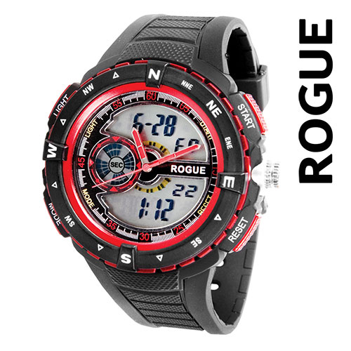 Rogue RG10882RD Black & Red Watch