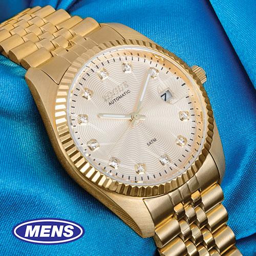 Rogue 11-Diamond Gold Watch