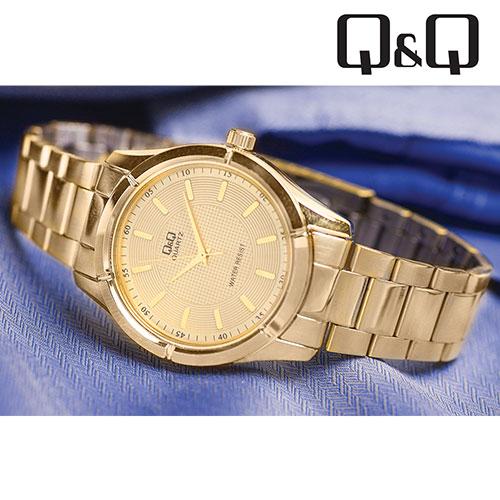 Q&Q Gold Dress Watch