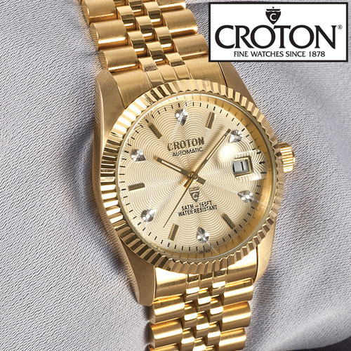 Croton Mens 6 Diamond Automatic Watch