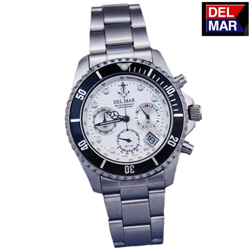 Del-Mar White Chronograph Watch