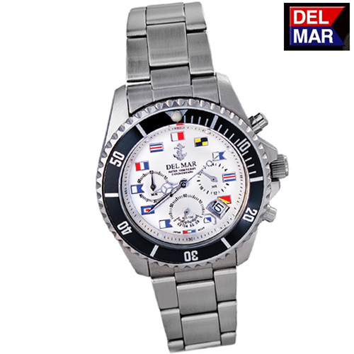Del-Mar White Nautical Watch