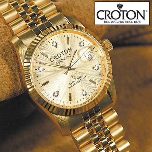Croton 6 Diamond Gold Watch