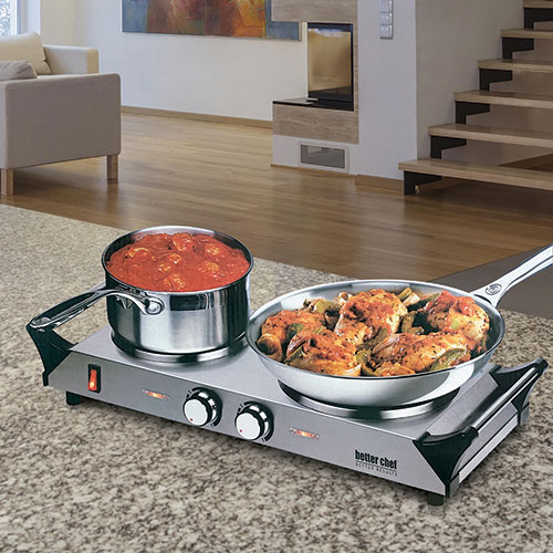 Better Chef Double Solid-Element Burner