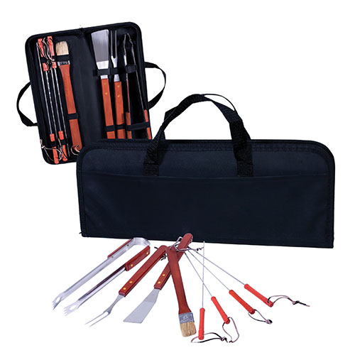 Stainless Steel Grilling Tool Set - 9 Piece