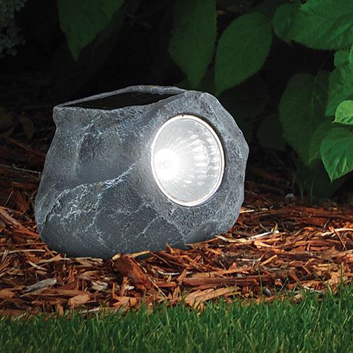 Solar LED Garden Rock Light - 2 Pack