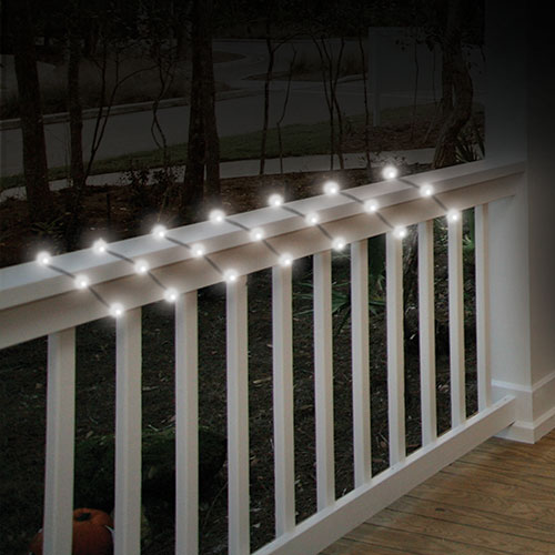 50-Bulb LED Solar String Lights - 2 Pack