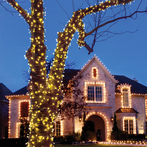100-Bulb LED Solar String Lights - 2 Pack
