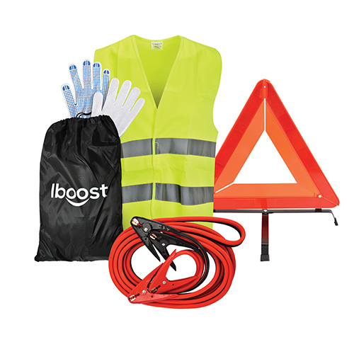 iBoost 1-Guage 25' Wire Jumper Cables & Car Safety Kit