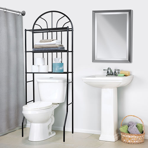 Home Basics 3-Shelf Steel Bathroom Space Saver