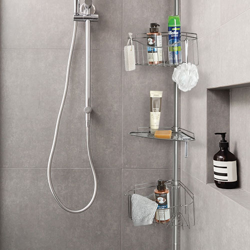 Hawthorne Place 3-Tier Tension Shower Caddy