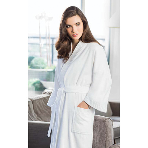 Melrose Terry White Velour Shawl Robe