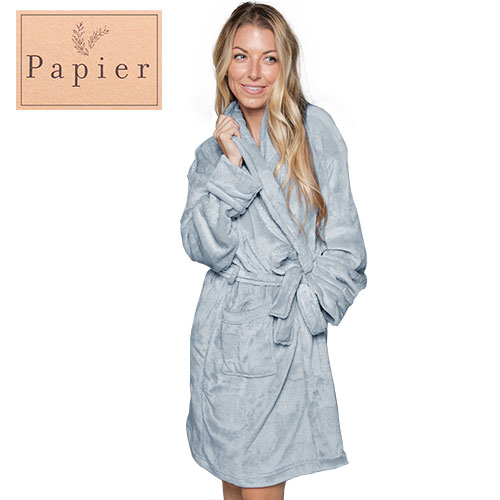 Papier Light Smoky Blue Plush Robe