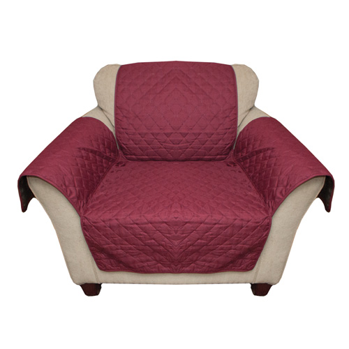 Polyester Burgundy Reverse Chair Cover