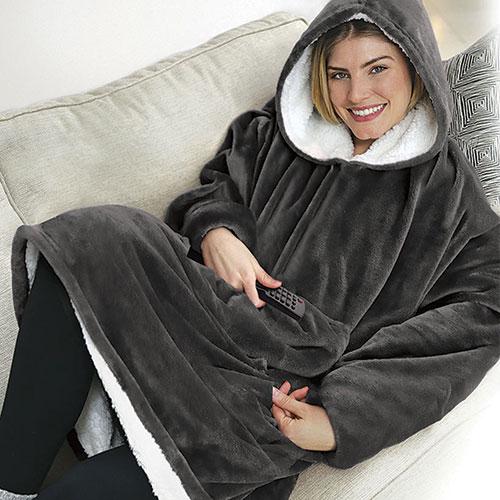Huggle Hoodie Plush Wearable Blanket