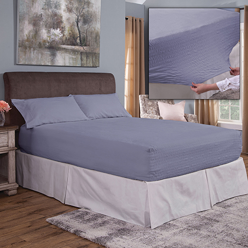 Bed Tite Flannel Sheet Set - Slate