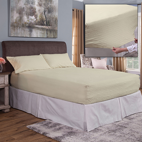 Bed Tite Flannel Sheet Set - Ivory