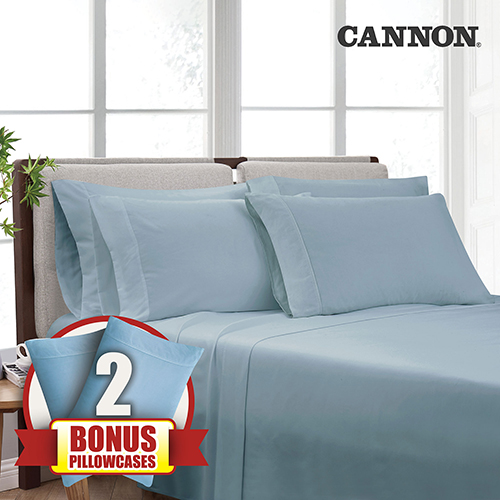 Cannon Heritage Microfiber Sheet Set - Blue