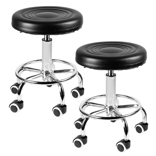 2-Pack Pneumatic Rolling Bar Stool