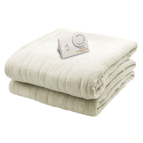 Biddeford Blankets Comfort Knit Electric Blanket - Natural