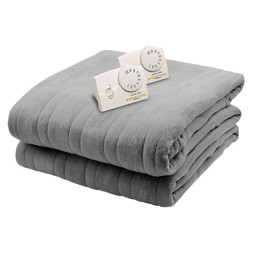 Biddeford Blankets Comfort Knit Electric Blanket - Grey