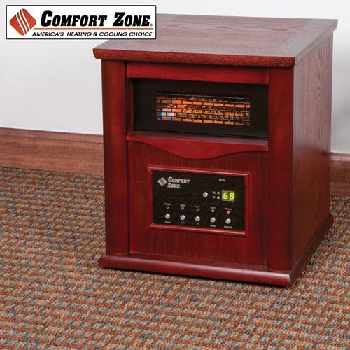 Comfort Zone Cz 2020c Quartz Infrared 1500w Portable Space