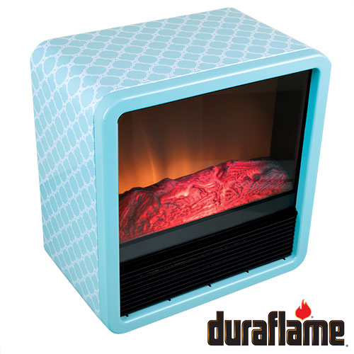 Duraflame DFS-300 Turquoise Personal Fire Cube Electric Heater