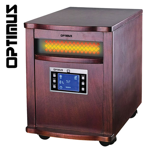 Optimus H-8010 Cherry 1500 Watt Infrared Heater