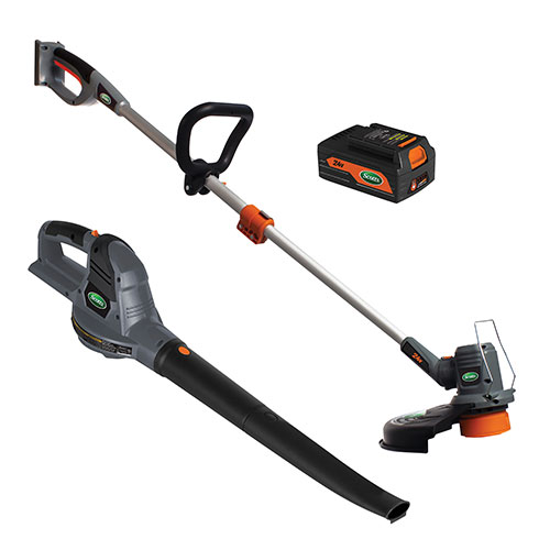 Scotts 24V Lithium String Trimmer with Blower Combo