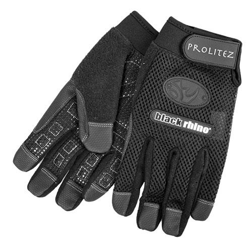 Rhino Mens Black Gloves