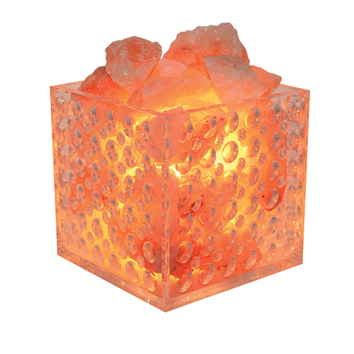 Acrylic Box Himalayan Salt Lamp